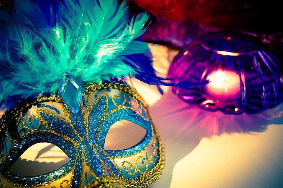 Mardi Gras mask party