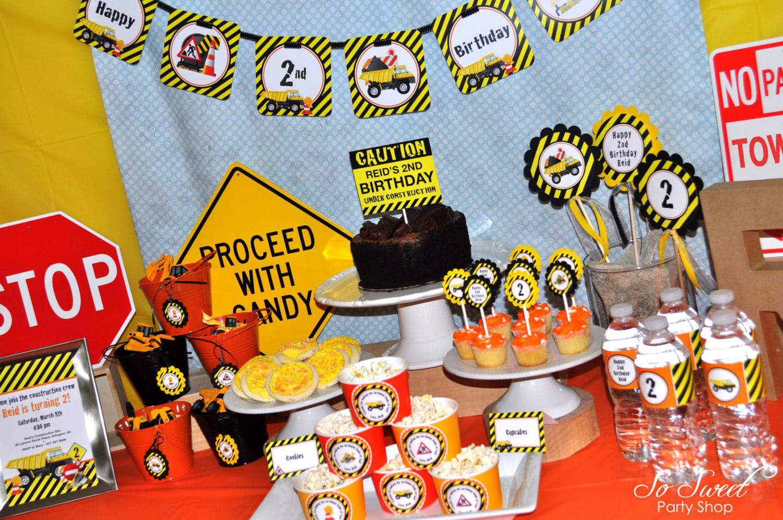 construction birthday theme