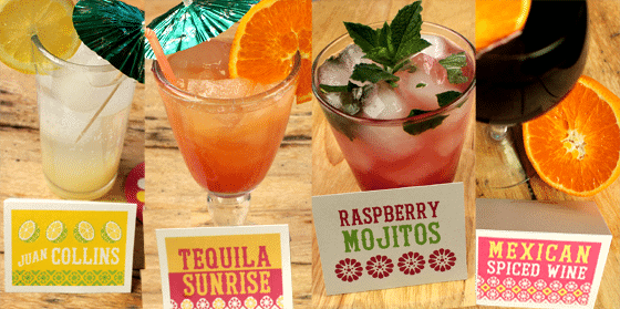 mexican themed-party drinks