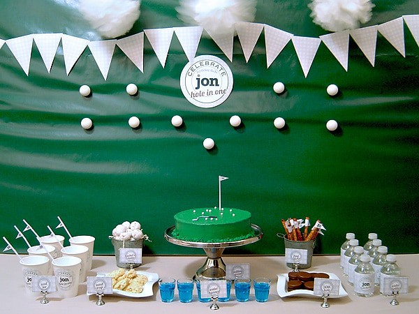 Golf-themed birthday party