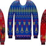 3 different ugly sweater color