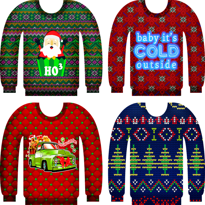 ugly sweaters for ugly sweater party theme