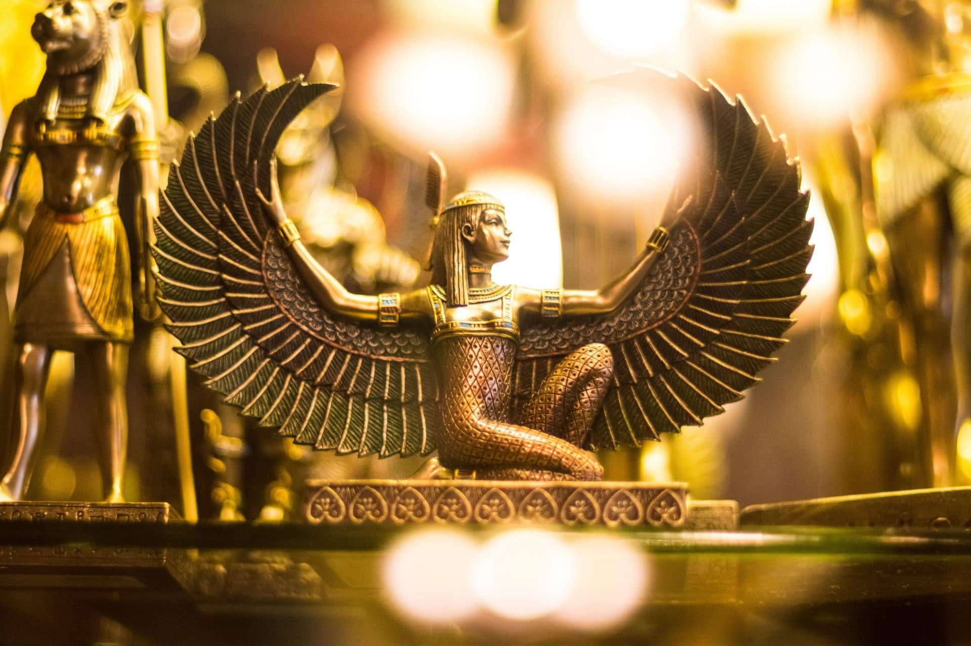 Egyptian gold statue